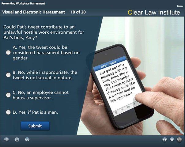 Sexual Harassment Training - Smart Phone