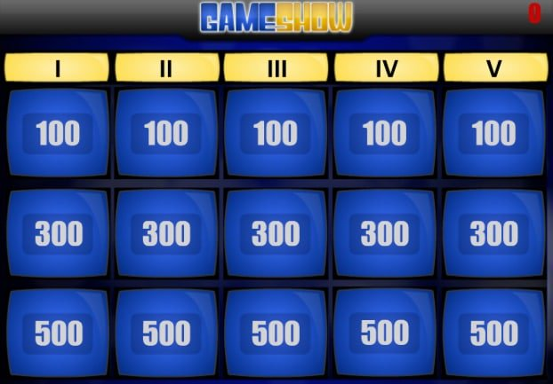 Learning Games Jeopardy