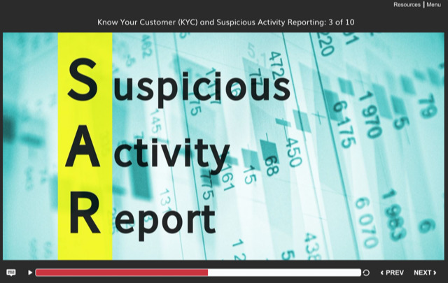 Anti-Money Laundering Suspicious Activity Report